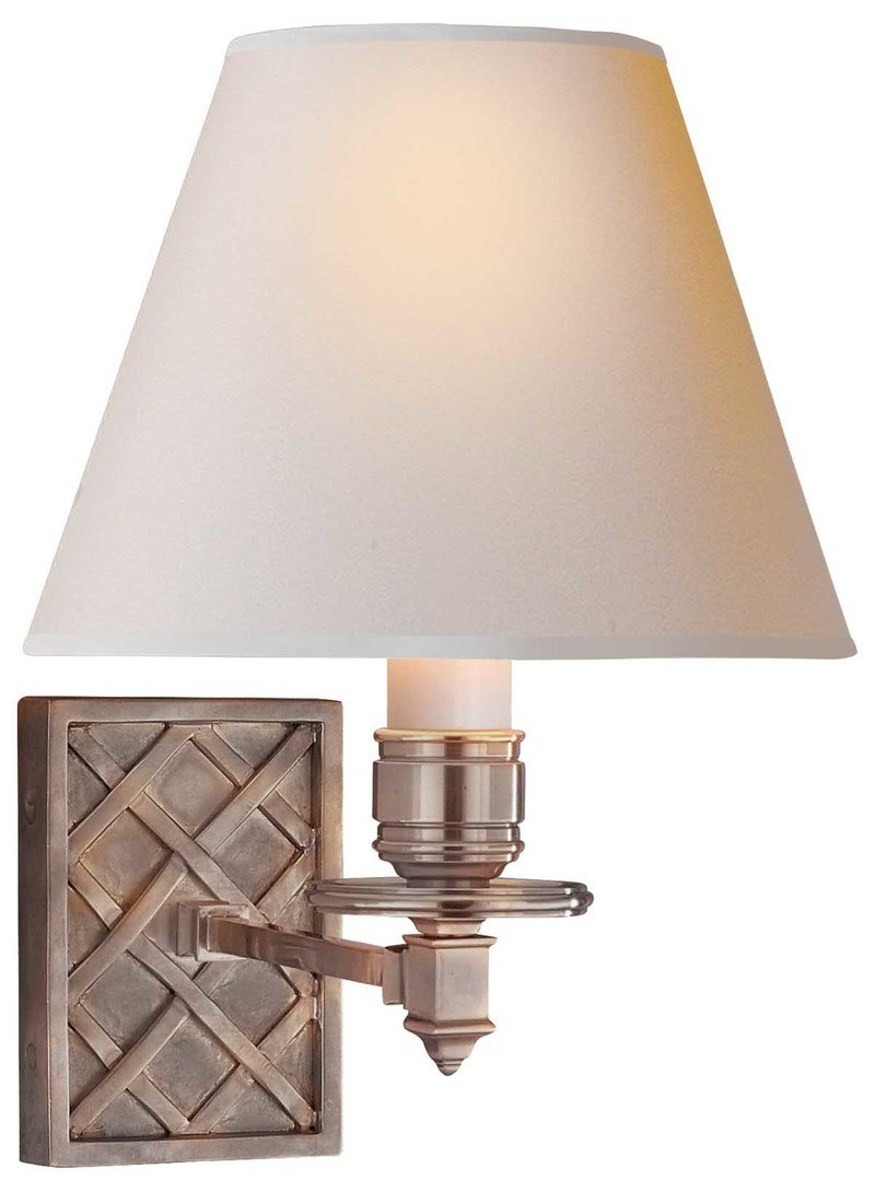 Alexa hampton visual comfort   co. gene single arm sconce brushed nickel 800 xxx q85
