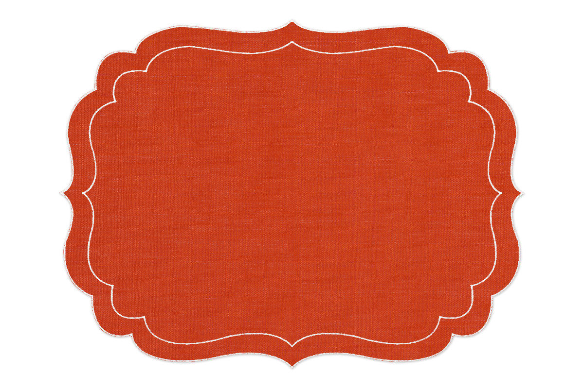 Alexa hampton la gallina matta balthazar placemat orange 1200 xxx q85