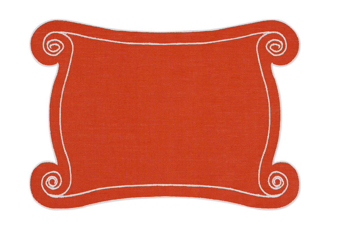 Alexa hampton la gallina matta ionia placemat orange 1200 xxx q85
