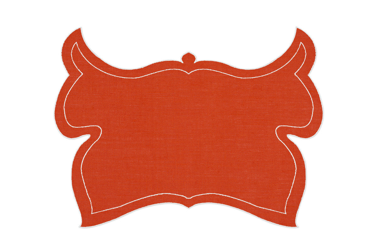 Alexa hampton la gallina matta papillon placemat orange 1200 xxx q85