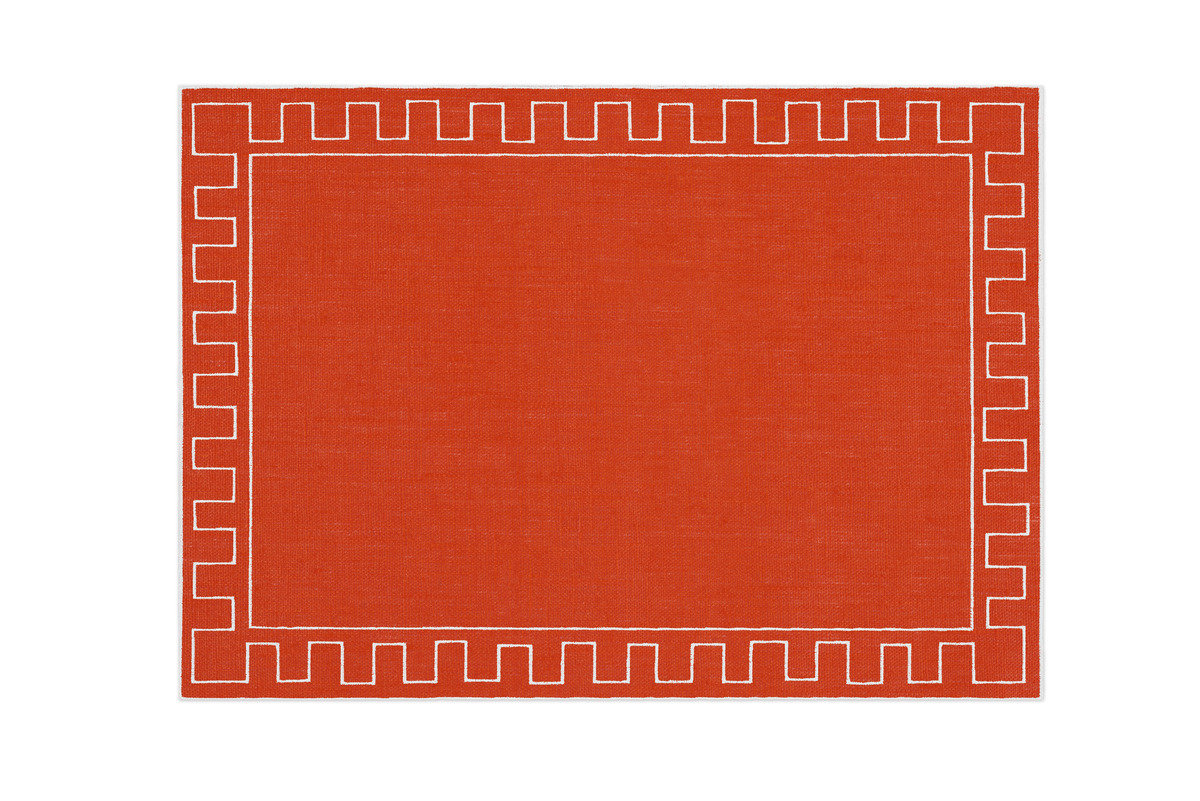 Alexa hampton la gallina matta athena placemat orange 1200 xxx q85