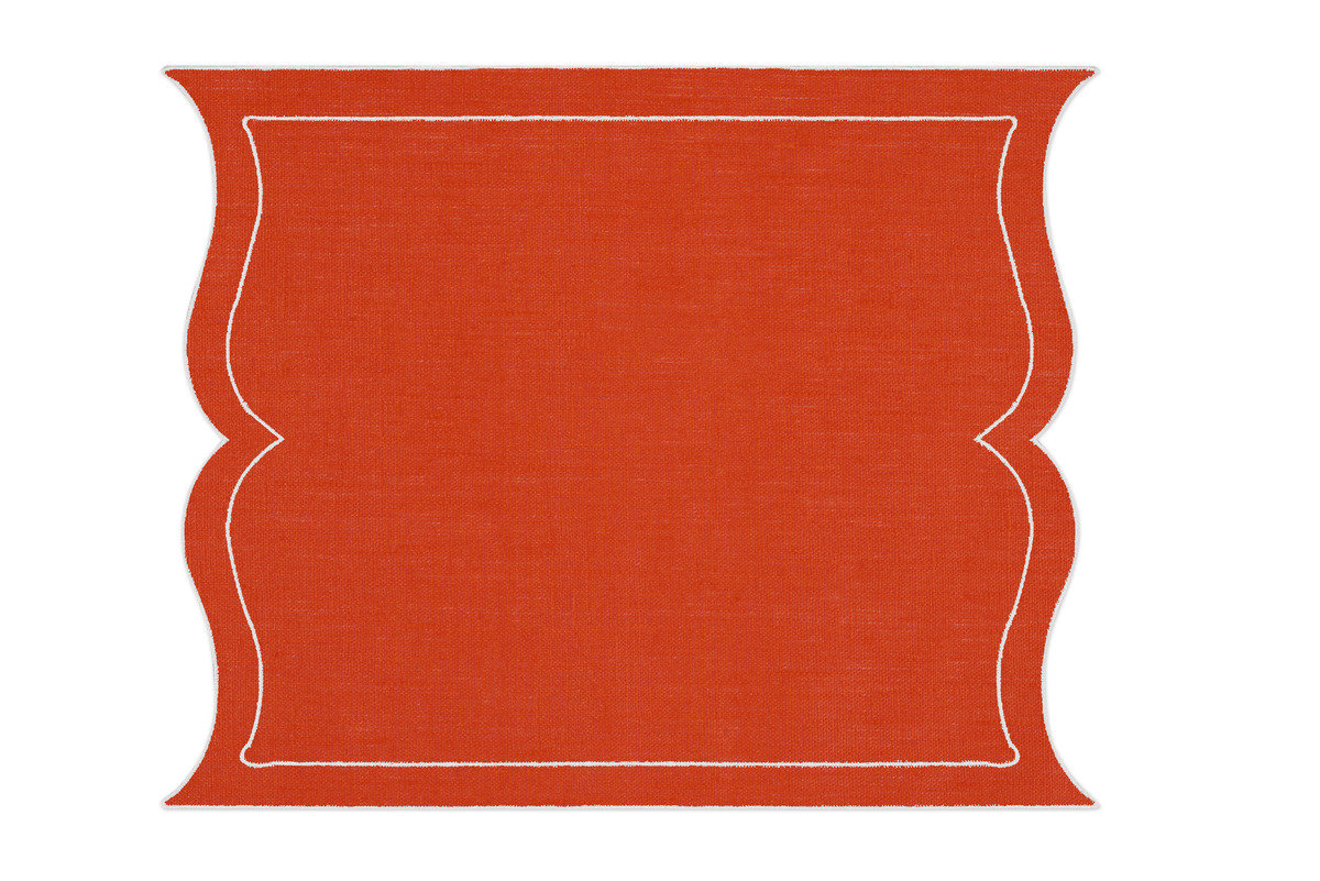 Alexa hampton la gallina matta valentine placemat orange 1200 xxx q85